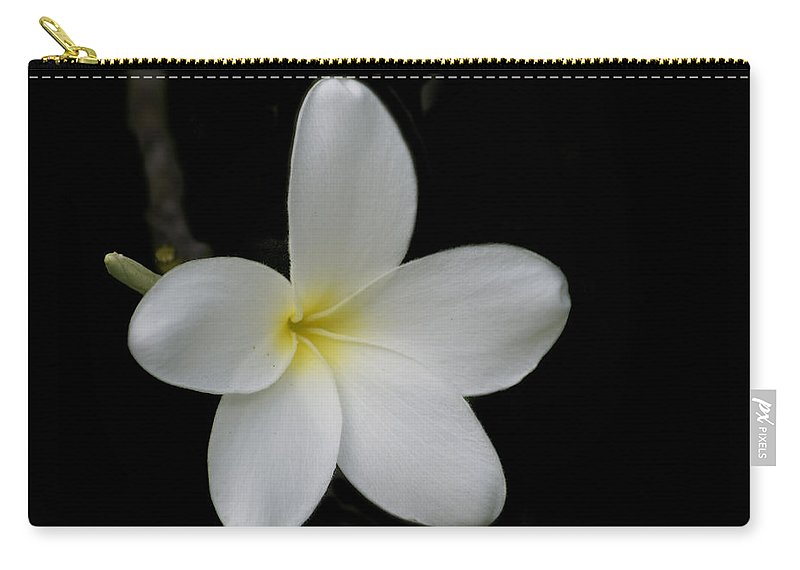 Flower Carry-all Pouch featuring the photograph Plumeria Blossom by Michael Peychich