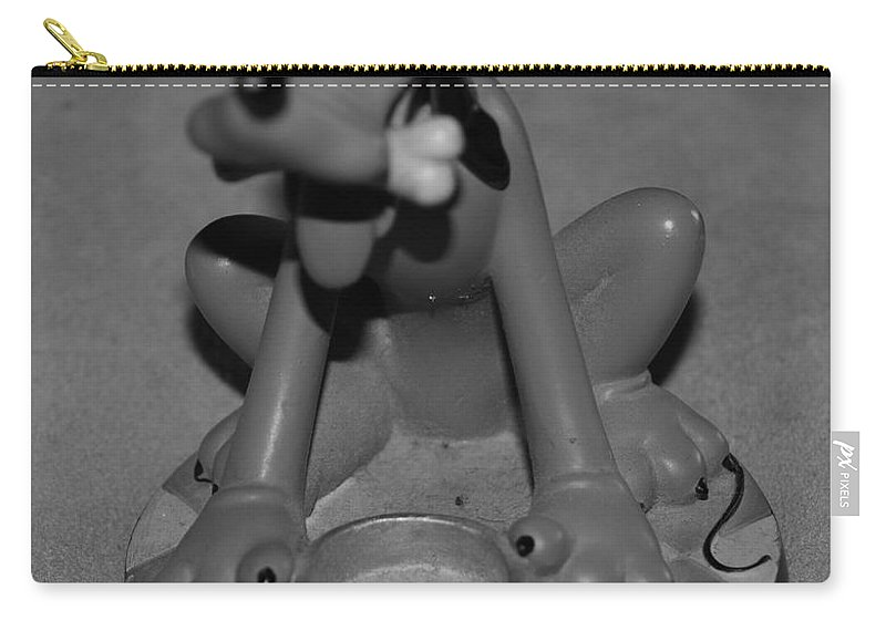 Black And White Carry-all Pouch featuring the photograph Pluto by Rob Hans
