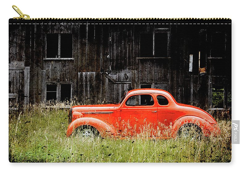 Hot Rod Carry-all Pouch featuring the photograph Plymouth Hot Rod by Joel Witmeyer