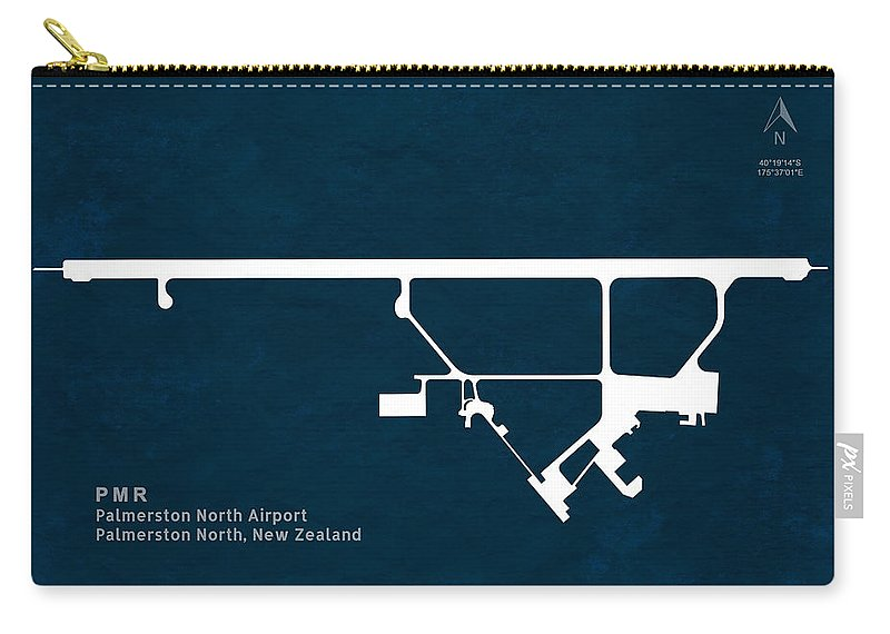 Silhouette Carry-all Pouch featuring the digital art Pmr Palmerston North Airport In Palmerston North New Zealand Run by Jurq Studio
