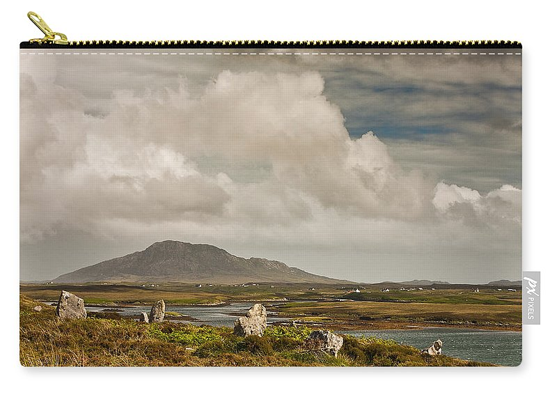 Scotland Carry-all Pouch featuring the photograph Pobull Fhinn Stone Circle by Colette Panaioti