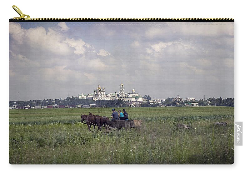 Ukraine Carry-all Pouch featuring the photograph Pochaiv Monastery Ukraine by Yuri Lev