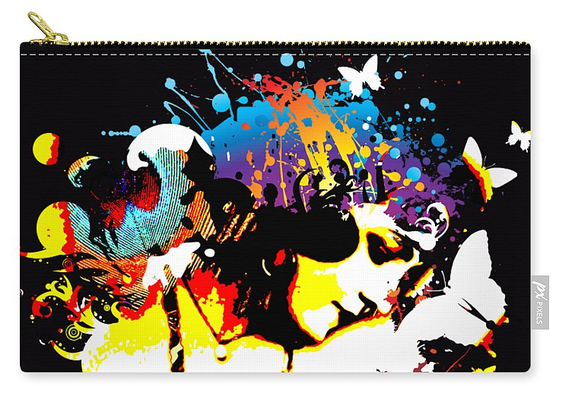 Nostalgic Seduction Carry-all Pouch featuring the photograph Poetic Peacock - Bespattered by Chris Andruskiewicz