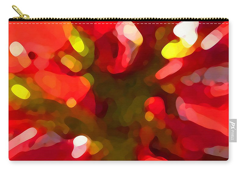 Abstract Painting Carry-all Pouch featuring the painting Poinsetta by Amy Vangsgard