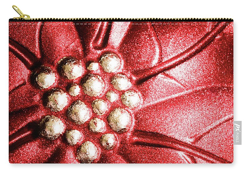 Poinsettia Carry-all Pouch featuring the photograph Poinsettia Abstract by Margaret Koc