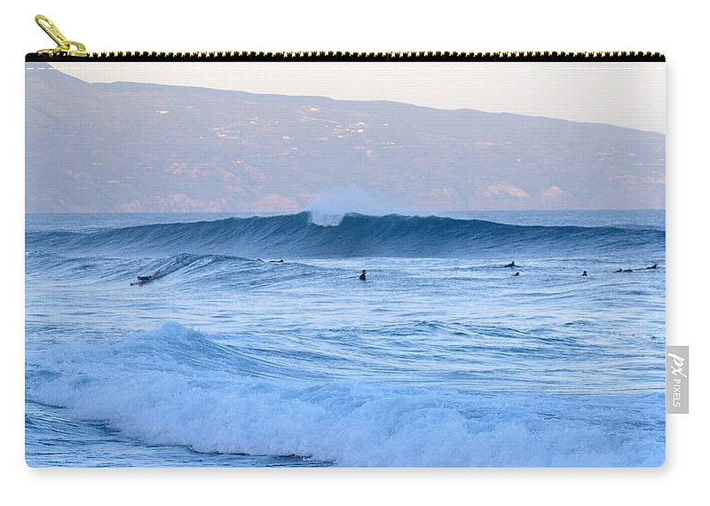 Surf Carry-all Pouch featuring the photograph Point Break by Thomas Sexton