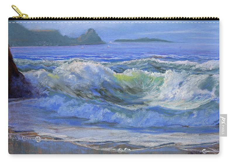 Seascape Carry-all Pouch featuring the painting Point Reyes by Heather Coen