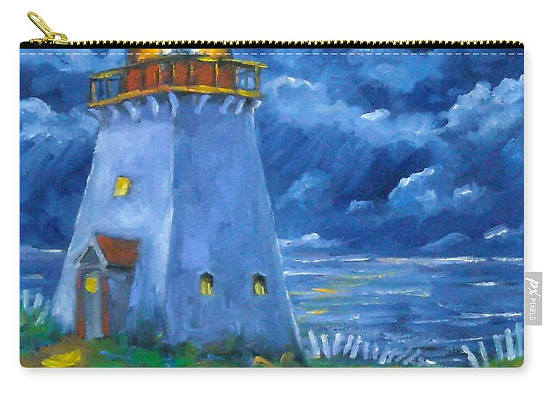 Art Carry-all Pouch featuring the painting Pointe Bonaventure by Richard T Pranke
