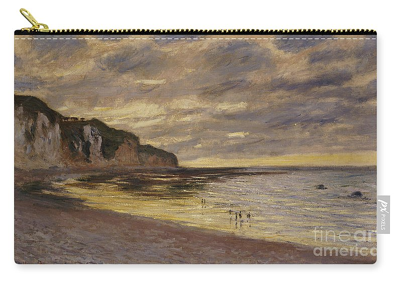 French Carry-all Pouch featuring the painting Pointe De Lailly by Claude Monet