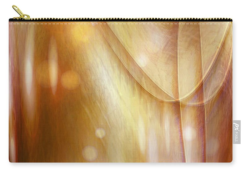 Abstract Art Carry-all Pouch featuring the digital art Points Of Light by Linda Sannuti