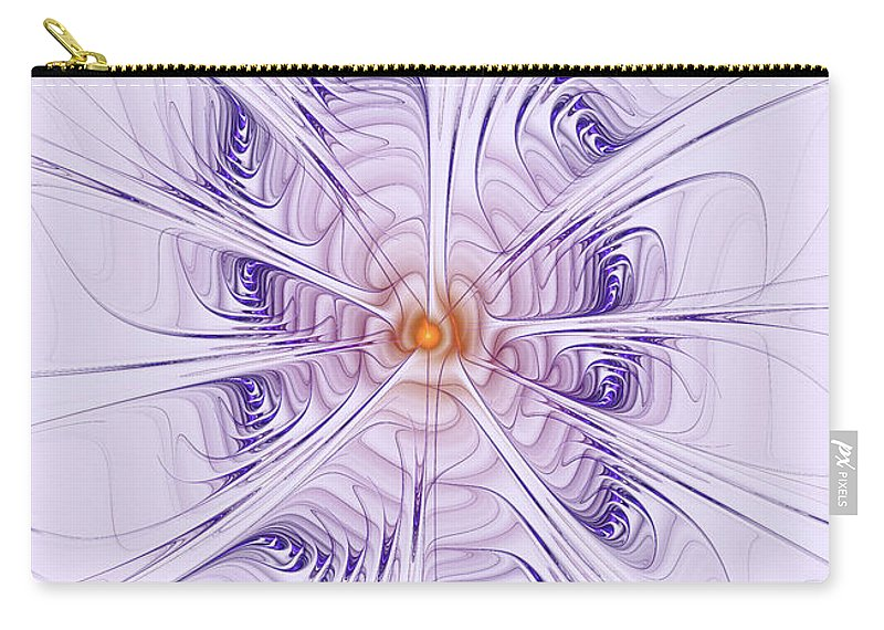 Purple Carry-all Pouch featuring the digital art Poiple Poiple by Deborah Benoit