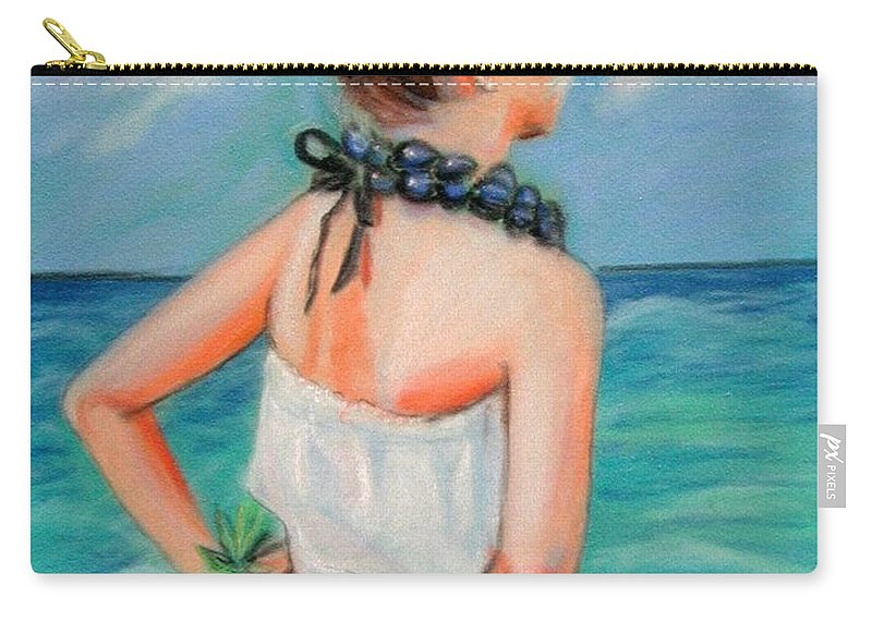 Hula Dance Carry-all Pouch featuring the painting Poipu Hula by Marionette Taboniar
