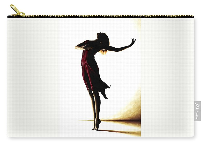 Ballet Carry-all Pouch featuring the painting Poise in Silhouette by Richard Young