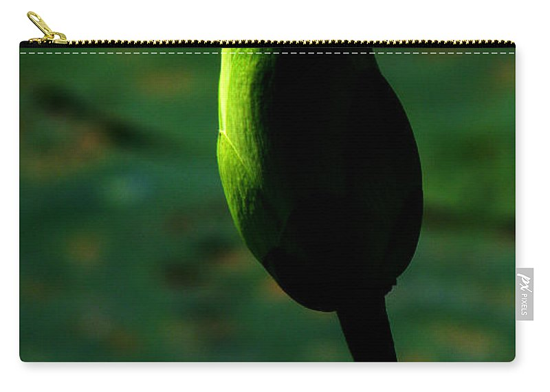 Lotus Carry-all Pouch featuring the photograph Poised For Greatness by Amanda Barcon