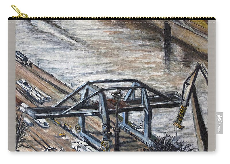Landscape Carry-all Pouch featuring the painting Pojizdnej Jerab by Pablo de Choros