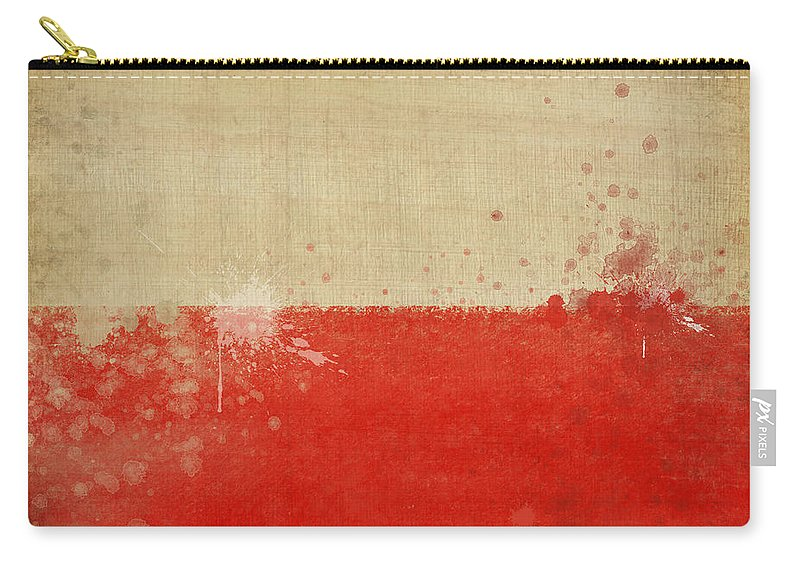 Chalk Carry-all Pouch featuring the photograph Poland Flag by Setsiri Silapasuwanchai