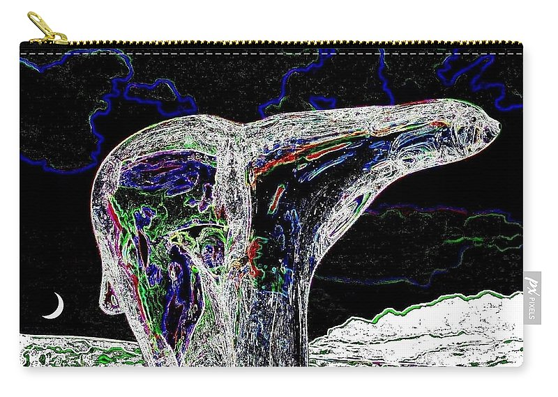 Abstract Carry-all Pouch featuring the digital art Polar Bear by Will Borden
