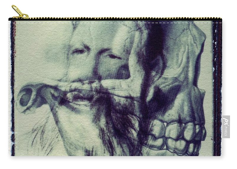 Polaroid Transfer Skull Anatomy Teeth Skeleton Beard Carry-all Pouch ...