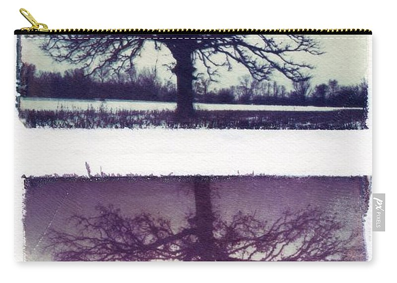 Polaroid Carry-all Pouch featuring the photograph Polaroid Transfer Tree by Jane Linders