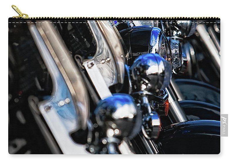Atlanta Carry-all Pouch featuring the photograph Police Motorcycles by Doug Sturgess