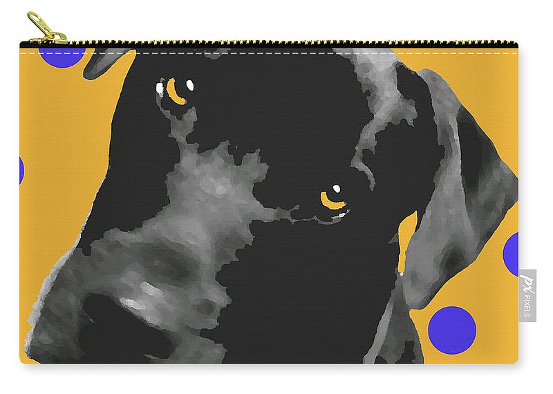 Dogs Carry-all Pouch featuring the photograph Polka Dot by Amanda Barcon
