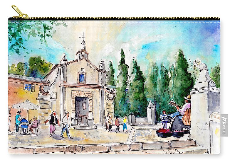 Travel Carry-all Pouch featuring the painting Pollenca 01 by Miki De Goodaboom