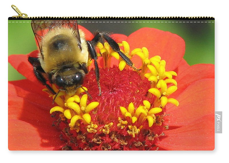 Bee Carry-all Pouch featuring the photograph Pollination by J M Farris Photography