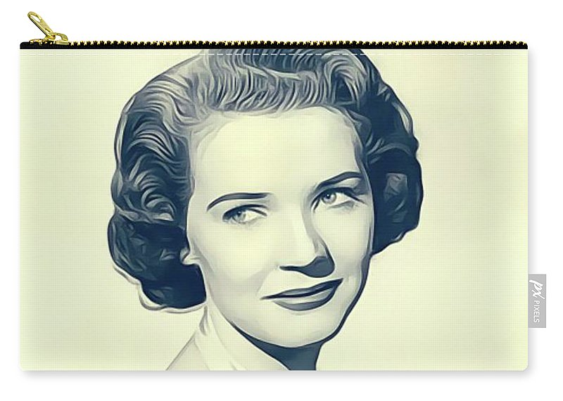 Polly Carry-all Pouch featuring the digital art Polly Bergen, Vintage Actress by John Springfield