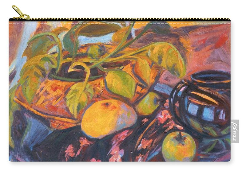 Still Life Carry-all Pouch featuring the painting Pollys Plant by Kendall Kessler