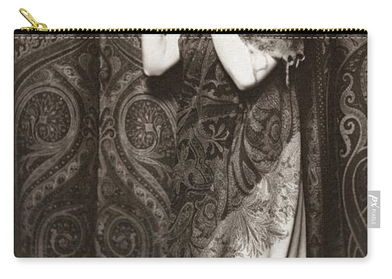 1890 Carry-all Pouch featuring the photograph Pomegranates by Granger