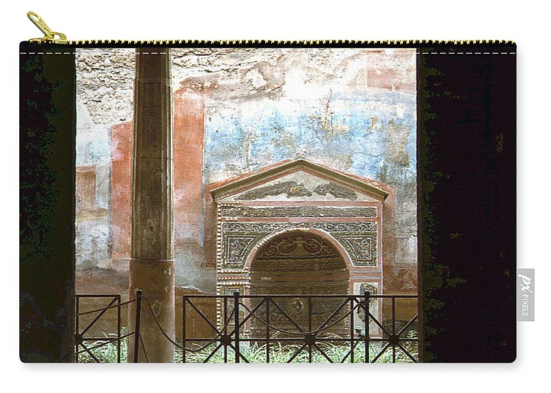 Lehtokukka Carry-all Pouch featuring the photograph Pompei View 1 by Jouko Lehto