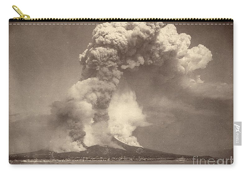 1872 Carry-all Pouch featuring the photograph Pompeii: Mount Vesuvius by Granger