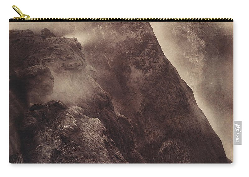 1892 Carry-all Pouch featuring the photograph Pompeii, Mt Vesuvius by Granger