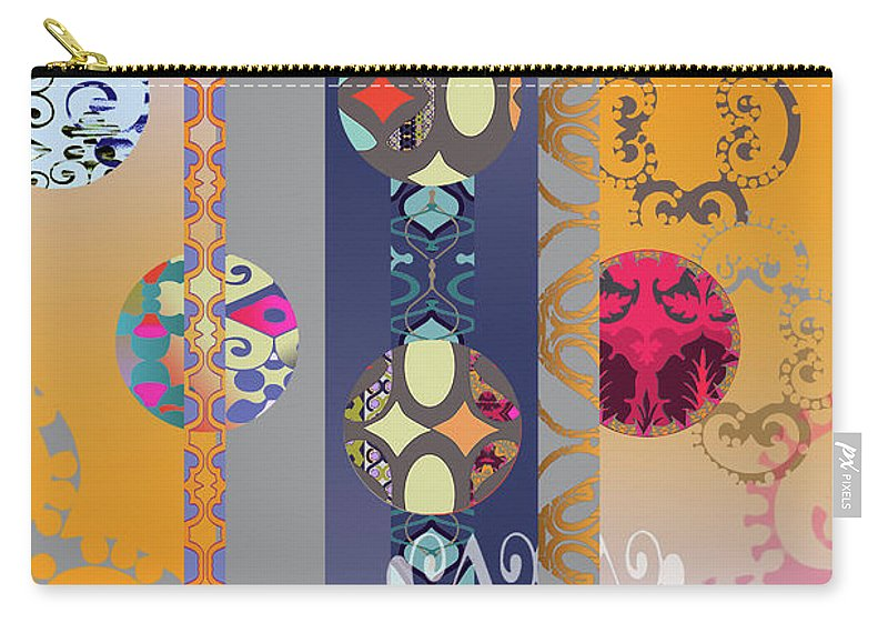 Digital Carry-all Pouch featuring the digital art Pompoms 3 by Ceil Diskin
