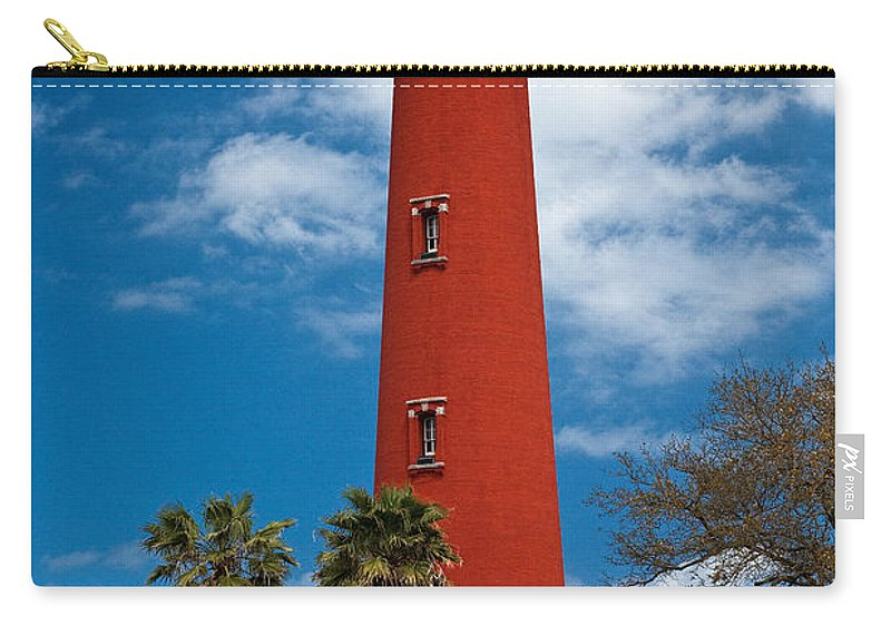 Lighthouse Carry-all Pouch featuring the photograph Ponce Inlet Lighthouse by Christopher Holmes