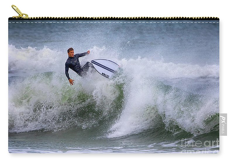 Surf Carry-all Pouch featuring the photograph Ponce Surf 2017 by Deborah Benoit