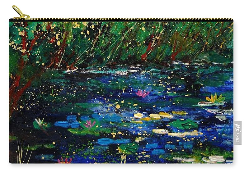 Water Carry-all Pouch featuring the painting Pond 459030 by Pol Ledent