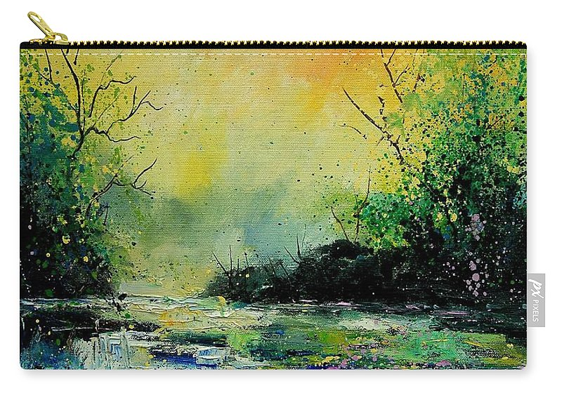 Water Carry-all Pouch featuring the painting Pond 459060 by Pol Ledent