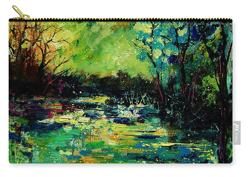 Pond Carry-all Pouch featuring the painting Pond 560120 by Pol Ledent