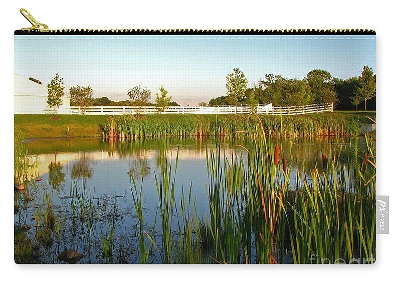 Landscape Carry-all Pouch featuring the photograph Pond At Sunset by Todd A Blanchard