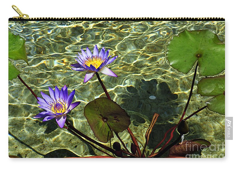 Clay Carry-all Pouch featuring the photograph Pond Florals by Clayton Bruster