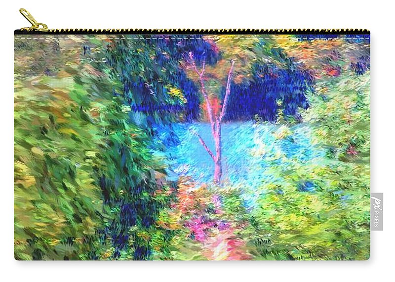 Digital Photograph Carry-all Pouch featuring the photograph Pond Overlook by David Lane