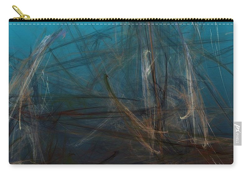 Abstract Digital Painting Carry-all Pouch featuring the digital art Pond Water by David Lane