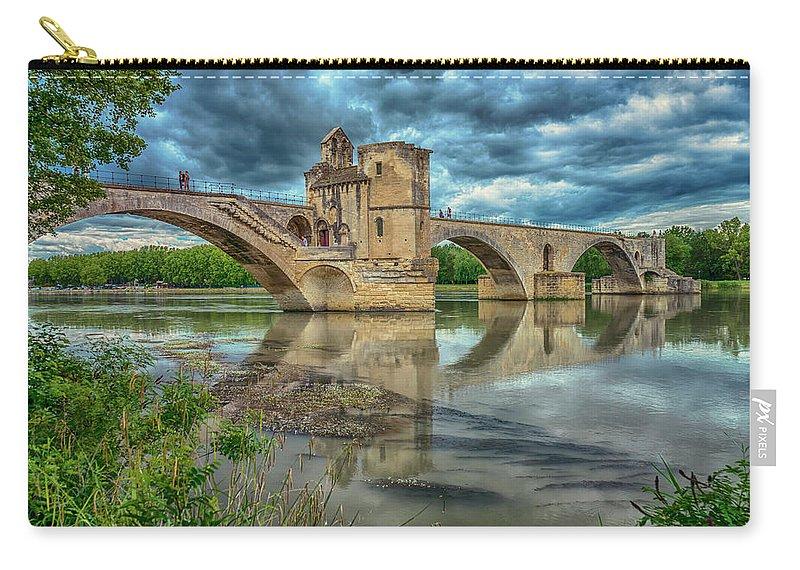 Pont D'avignon Carry-all Pouch featuring the photograph Pont D'avignon France_dsc6031_16 by Greg Kluempers