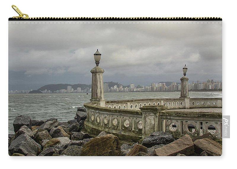 Ponta Da Praia Carry-all Pouch featuring the photograph Ponta Da Praia by James Conway