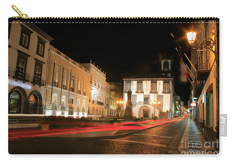 Azores Carry-all Pouch featuring the photograph Ponta Delgada At Night by Gaspar Avila