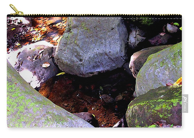 Water Carry-all Pouch featuring the photograph Pool In The Rainforest by Ian MacDonald