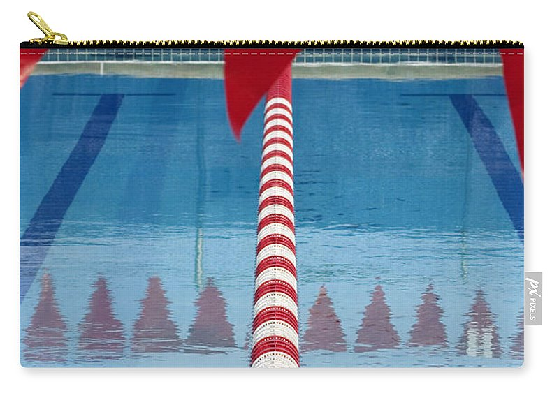 Flag Carry-all Pouch featuring the photograph Pool by Skip Hunt