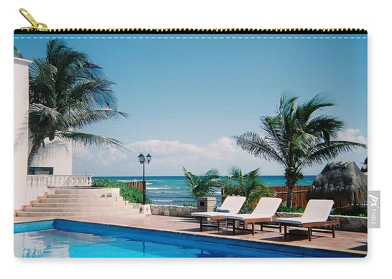 Resort Carry-all Pouch featuring the photograph Poolside by Anita Burgermeister