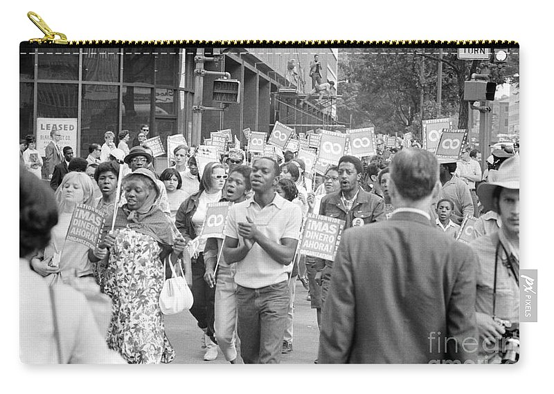 1968 Carry-all Pouch featuring the photograph Poor Peoples March, 1968 by Granger